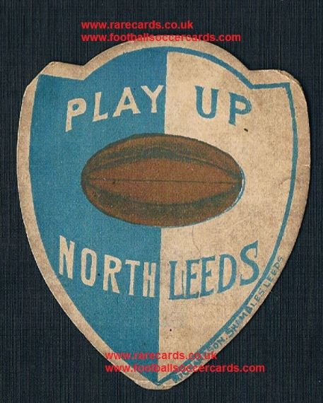 1880s Richardson Shambles Leeds Play Up North rugby card